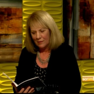 Luanne Castle Reading from Doll God on Morning Scramble Television Show