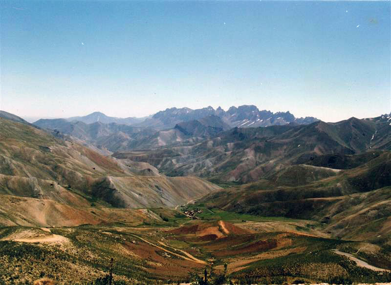 This photograph shows the mountains of Afghanistan.
